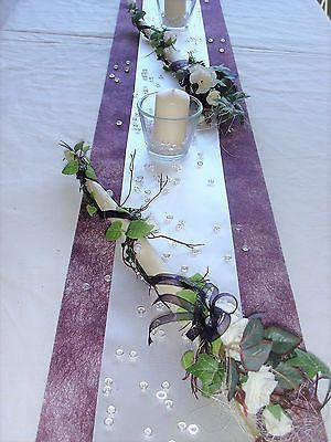 Tischdekoration für ca. 60 Pers. lila zur Hochzeit Tischdeko TD0014