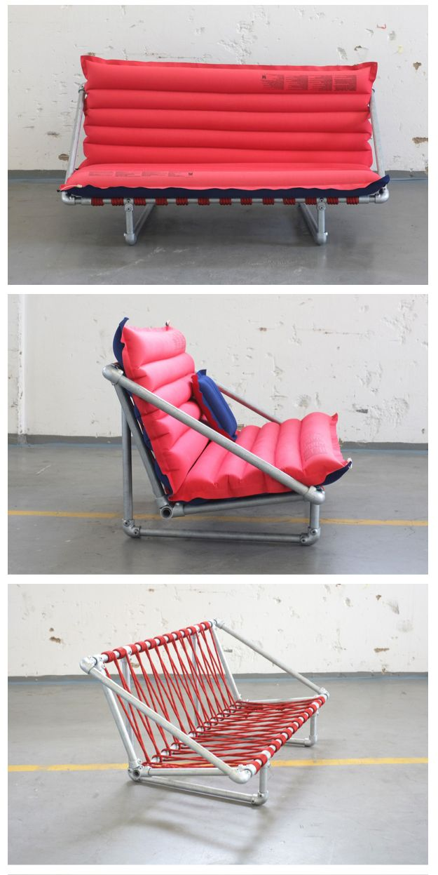 Pipe & Lilo sofa http://www.simplifiedbuilding.com/blog/rimini-pipe-couch-made-with-kee-klamp/