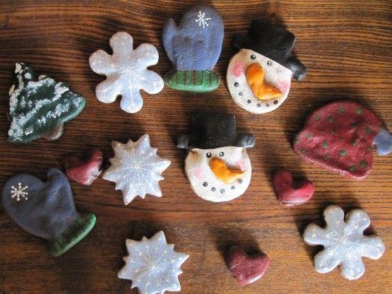 Salt Dough Bowl Fillers - Winter Mix.