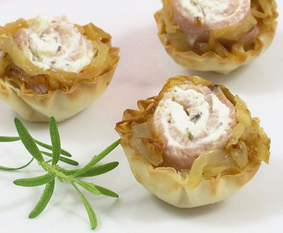 What a tasty combination with sweet onion and black forest for Buy canape shells
