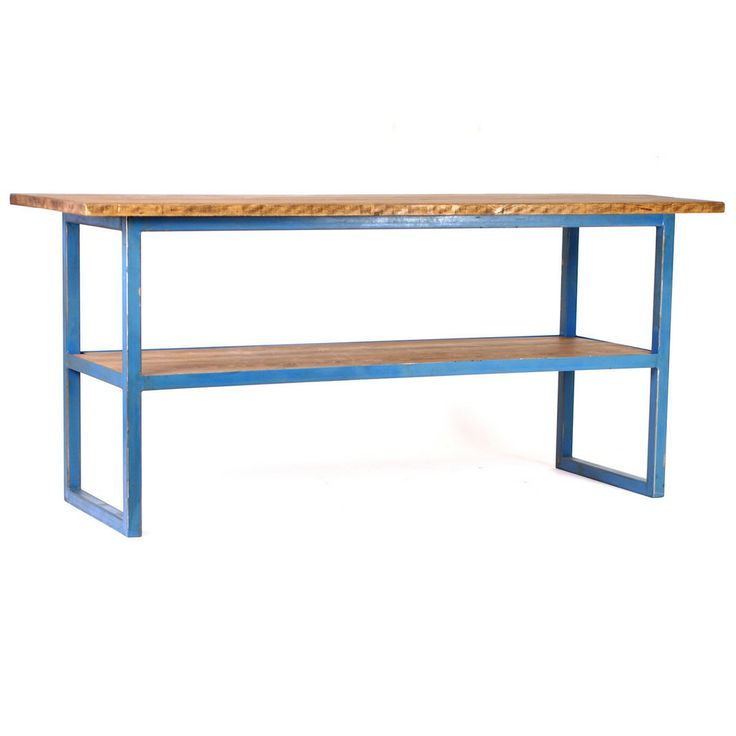 reclaimed industrial tall work table | ideal workspace | pinterest