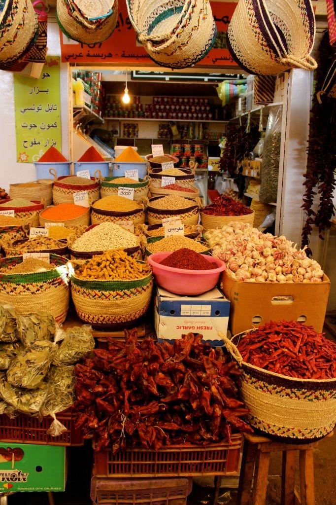 Spices in Tunisia Medina