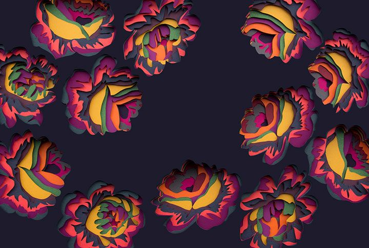 Maud transforme le papier en de magnifiques et hypnotisantes oeuvres 3D