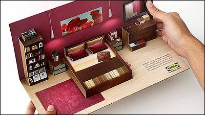 IKEAの家具を思わず買う気になりそうなほどナイスなデザインのDM - GIGAZINE    郵便受けなどに無造作に突っ込まれるダイレクトメール(DM)の束の中で、時々非常にクールなアイディアを見せてくれるケースがありますが、その中でも今回のデザインはIKEAらしさとIKEAで家具を買う気にさせてくれる完成度を誇っています。