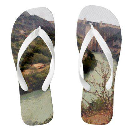 #Bhakra Nangal Dam Flip Flops - #womens #shoes #womensshoes #custom #cool