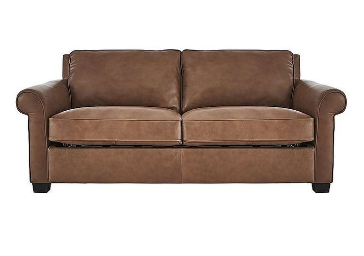 Campania 3 Seater Leather Sofa Bed - Natuzzi - Furniture Village #LeatherSofared
