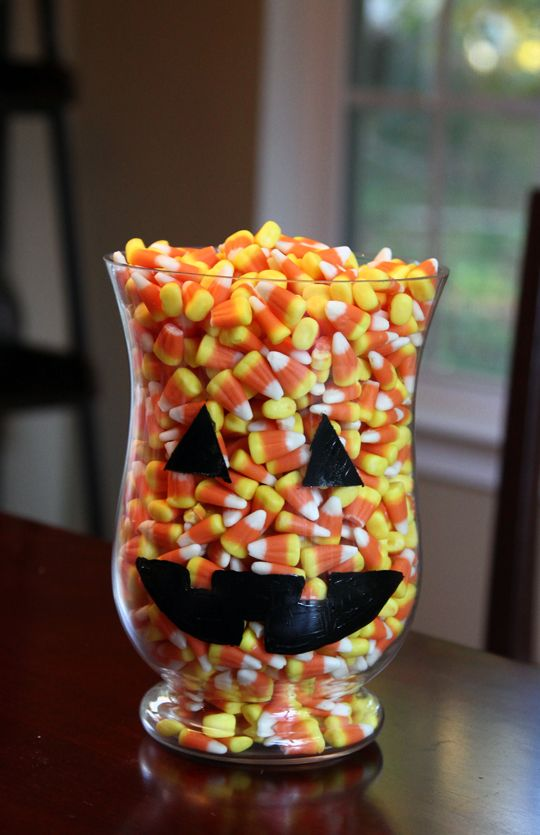 DIY Halloween Candy Jar Craft. I love nothing better than filling jars full of…
