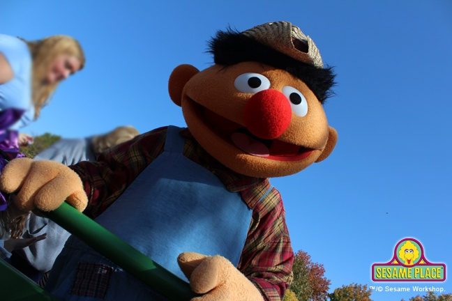 Farmer Ernie wants you to join him on the Sesame Place Hayride. Departing every weekend outside the front gate! Now through Oct 28th.