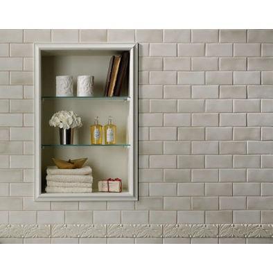 Bathroom Tile Nook Storage Solutions Pinterest