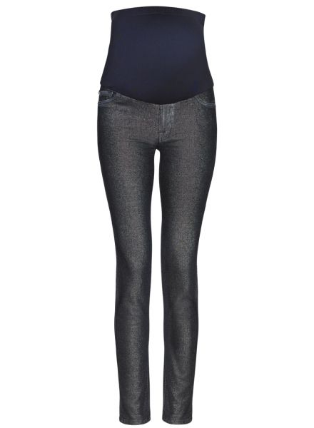 WHY WE LOVE THESE 7 FOR ALL MANKIND SKINNY JEAN IN GOLDEN STAR JACQUARD; Make a statement and work this seasons metallic's trend in these luxe gold jacquard jeans from 7 For All Mankind. The skinny is a body-sculpting, super-stretch shape characterised by its minimal detailing, comfortable, straight rise and flattering silhouette. #wonderfulchristmas