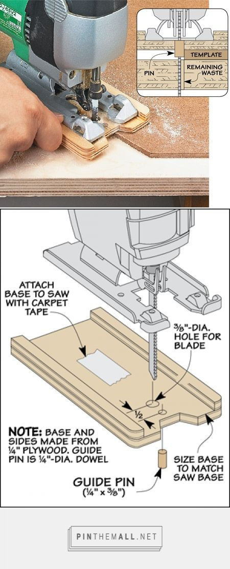 Template Cutting with a Jig Saw | Woodsmith Tips - created via http://pinthemall.net