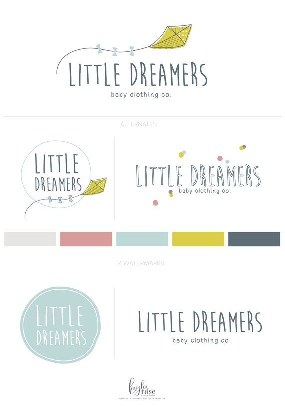 Logo Design Blog Logo Branding Kit Whimsical Kite Logo Premade