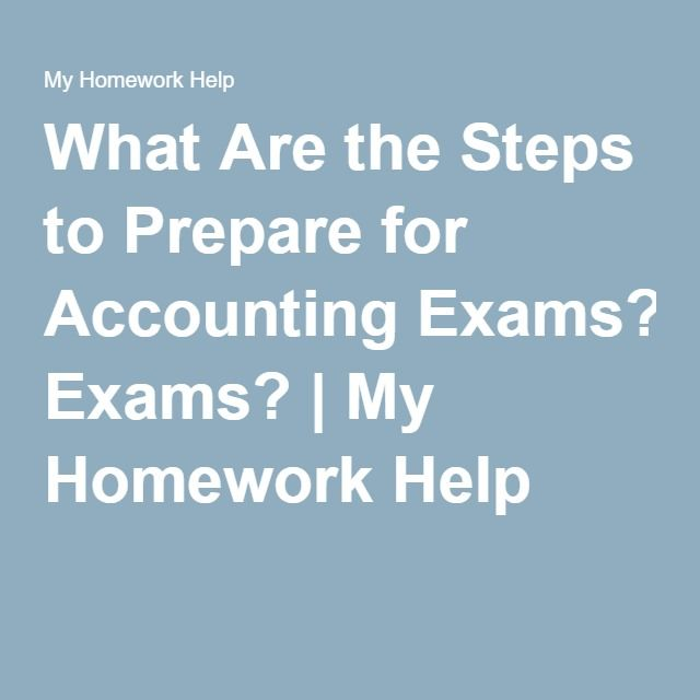 Best 25 accounting exam ideas on pinterest accounting major what are the steps to prepare for accounting exams my homework help fandeluxe Choice Image