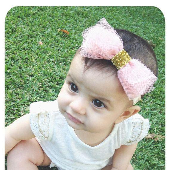 Baby Headband  Baby girl Headband  Tulle by AllureDesignsAU