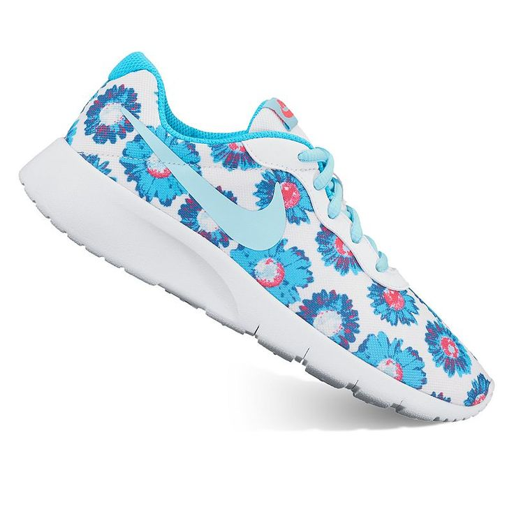 nike tanjun print grade school girls' athletic shoes nz