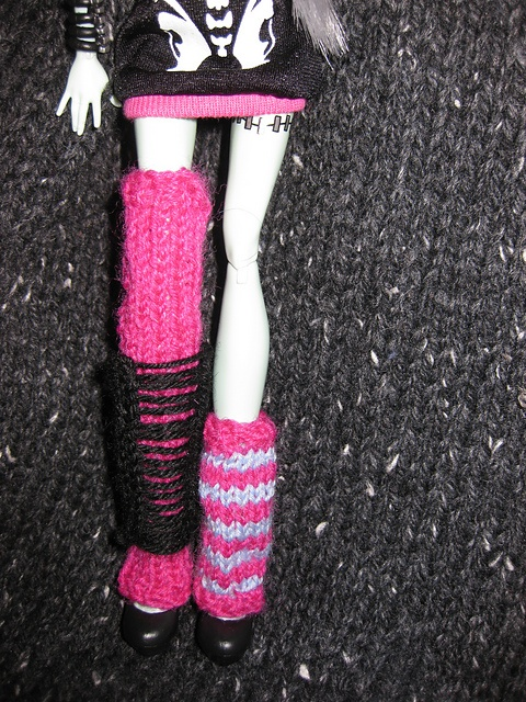 Knitting Patterns For Monster High Dolls : Ravelry: Monster High Doll Leg Warmers free knitting pattern by Mrs Lettice W...