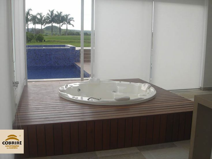 deck para hidrospa em madeira banheira ofur banheira spa