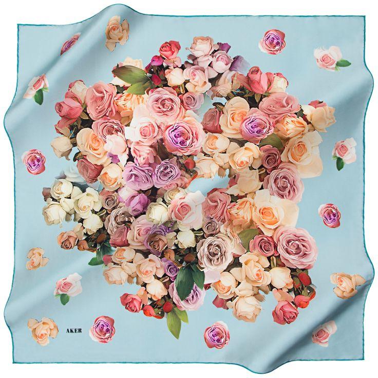 Aker A Confetti of Beautiful Roses Silk Twill Scarf at www.hijabplanet.com - free shipping worldwide  #scarf #headscarves #scarves #scarfs #hijabfashion #hijabpashmina #silkscarves #fashionstyle #forgirlsonly #foulard