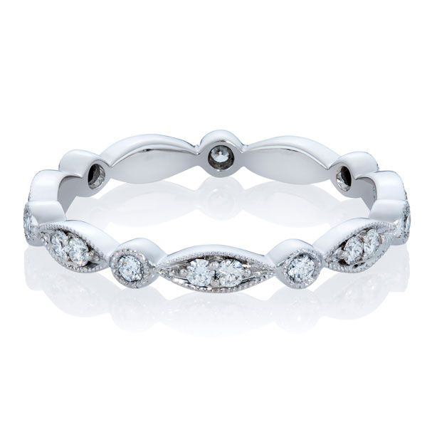 Antique style full hoop diamond ring - Stones Diamonds