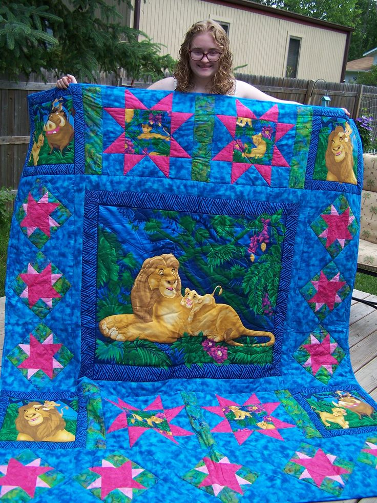 Top 25 Ideas About Panel Quilts On Pinterest Kid Quilts