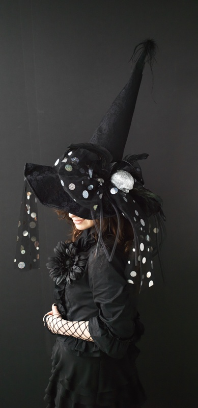 Hats Pagan Wicca Witch:  Black Witch Hat.