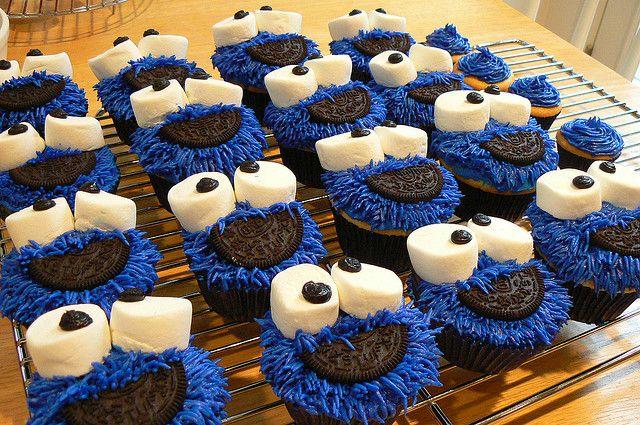 Cookie Monster Cupcakes: Ideas, Birthday, Cookie Monster Cupcakes, Sweet, Recipe, Food, Yummy, Cookiemonstercupcakes, Monsters