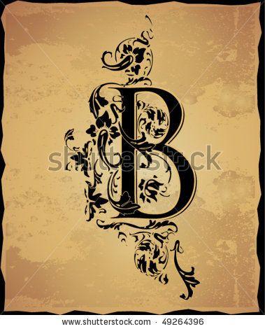 vintage initials letter b by mednyanszky zsolt via