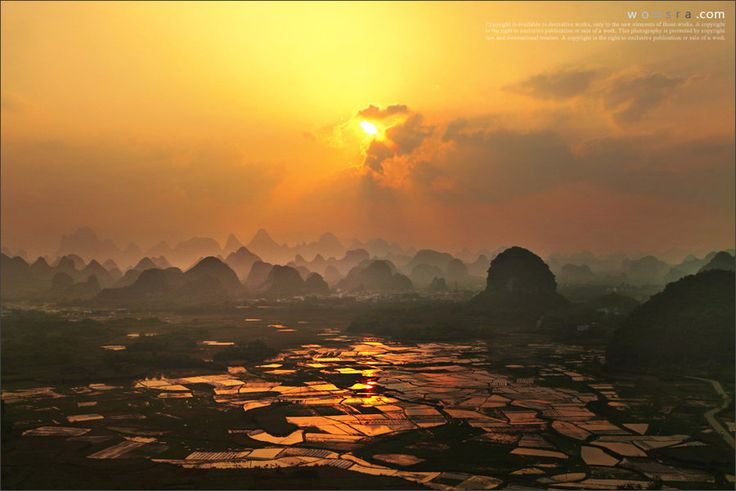 "500px / Photo ""Sunset of Putao township in Guilin"" by Woosra Kim"