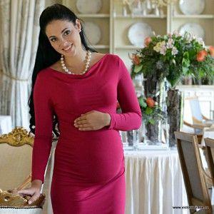 ELIZABETH MAGENTA Těhotenské šaty