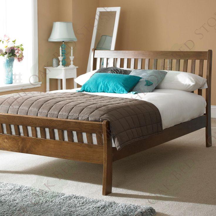 St George Dark Solid Oak Bed Frame 6ft - Super King | The Oak Bed Store