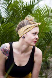 I wish I would rock yellow like Megan. She looks so stylish in her Rockabilly Headband.  http://www.mapleandoakdesigns.com