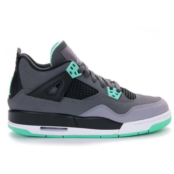 Nike Jordan Kids Air Jordan 4 Retro Bg Basketball Shoe ($675) ❤ liked on Polyvore featuring shoes, sneakers und jordans