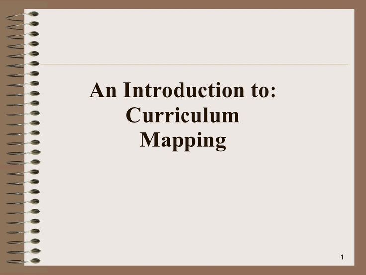 curriculum-mapping-intro-4108521 by Mike Fisher via Slideshare