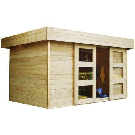 Abri de jardin en bois Stockholm, 8.37 m², ép. 28 mm