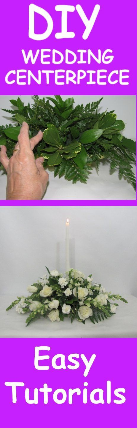 Wedding Flower Centerpiece - Easy Tutorial  Learn how to make bridal bouquets, corsages, boutonnieres, reception table centerpieces and church decorations. Buy wholesale fresh flowers and discount florist supplies.
