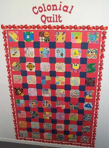 Colonial Quilt Made From Children S Drawings Craft Ideas