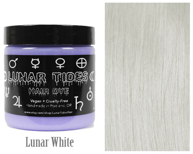 Lunar White is a non-damaging purple based toner designed to eliminate blonde or yellow tones from hair, leaving you with a luscious platinum white. Hair toner works best on pale yellow hair tones and