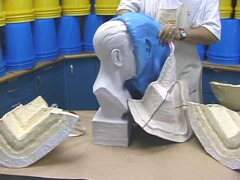 How To Make A Brush On Rubber Mold Of A Bust Mold Making