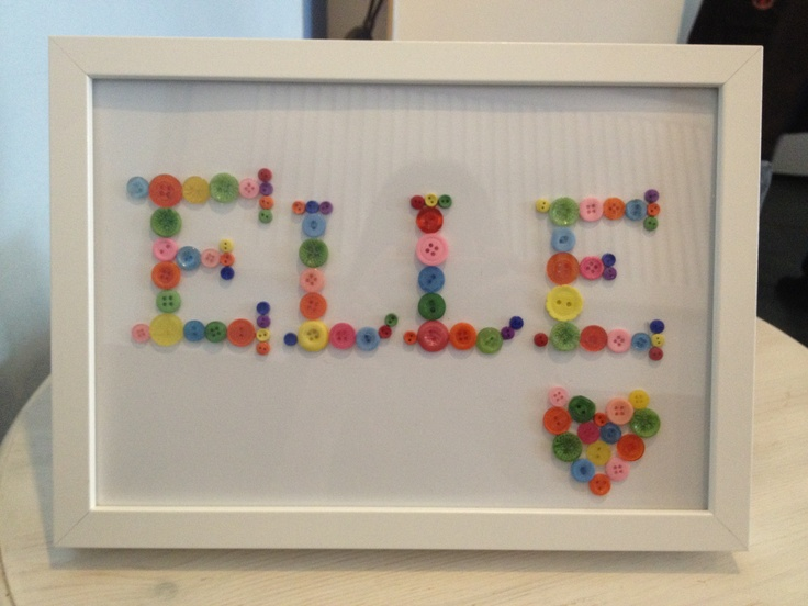 Home made button pic for my beautiful god daughters room x