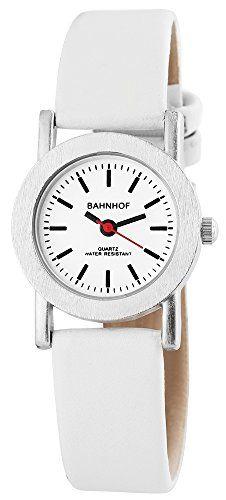 Bahnhof Damenuhr Weiß Silber Analog Leder Armbanduhr Eisenbahn Uhr - http://uhr.haus/bahnhof-2/bahnhof-damenuhr-weiss-silber-analog-leder-uhr
