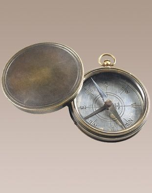 Compass - VICTORIAN TRAILS - Bronzed. Hand engrave a name, date or message inside the lid or on the base to create a meaningful keepsake.