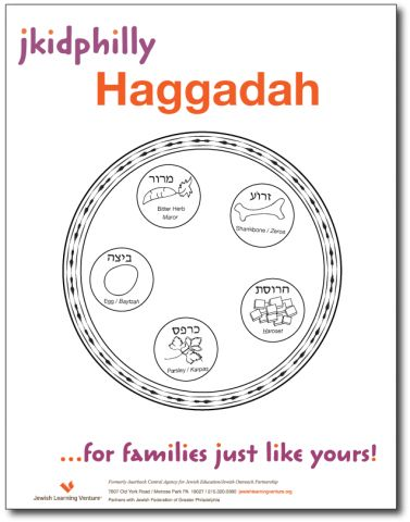 Download a kid-friendly Passover Haggadah that kids can color in during the Seder! www.jkidphilly.org