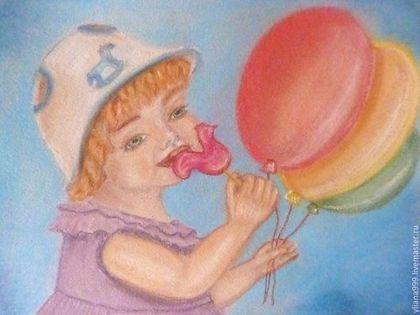 """Картина пастелью """"Вкус детства"""" - картина,пастельная картина,сухая пастель"""