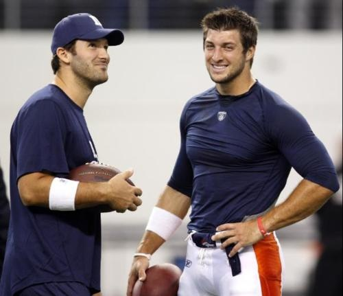 The 2 sexiest NFL players--Tony Romo & Tim Tebow