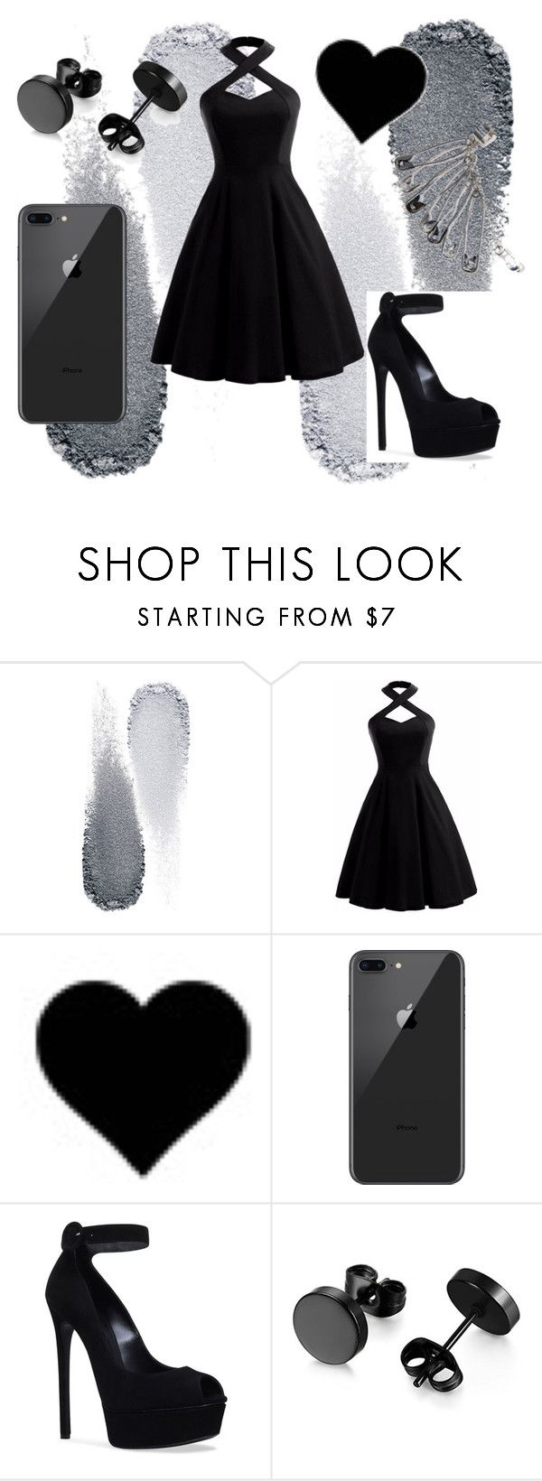 """pretty in black"" by pastel-goth-tumblr on Polyvore featuring Mode, Clé de Peau Beauté und Casadei"