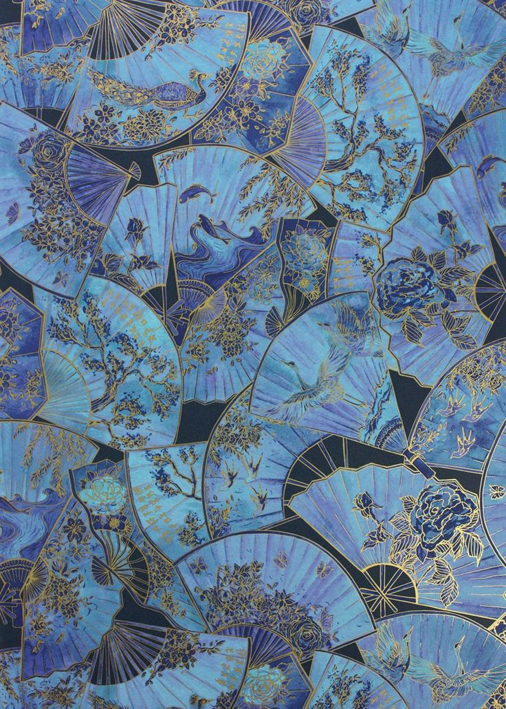 Blue Amp Gold Fanfare Wallpaper Wallpaper Matthew