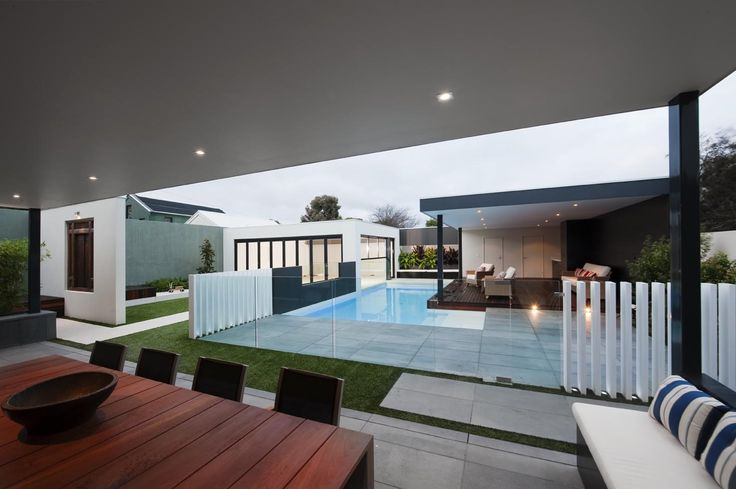 Free standing posts with frameless glass pool fencing