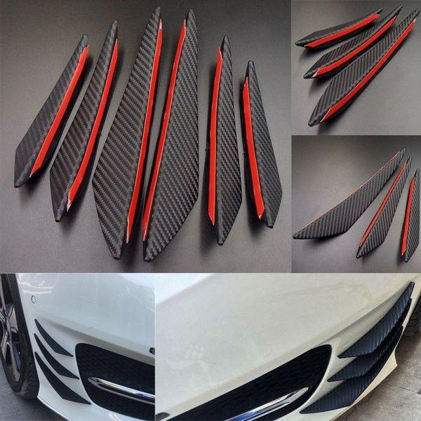 2 Pieces Universal Black Rear Bumper Lip Splitter Spoiler Car Body Kits