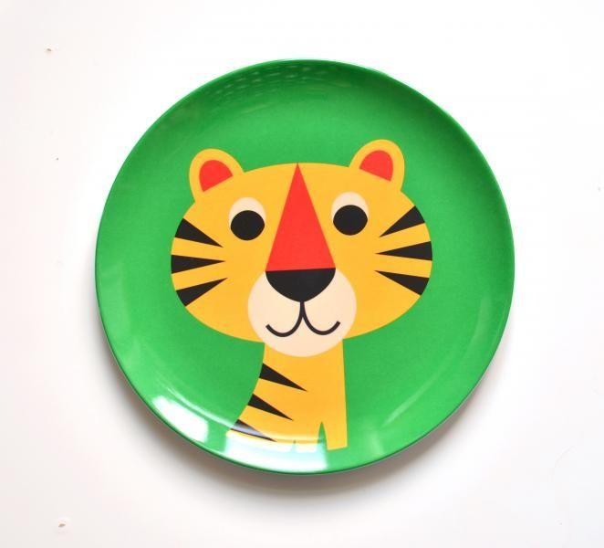 Melamintallerken tiger