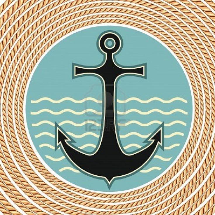 Símbolo del ancla marina